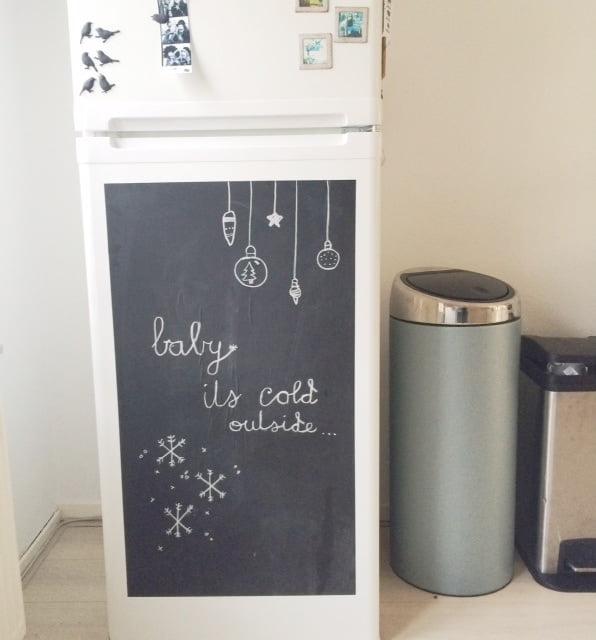 Krijtbord koelkast