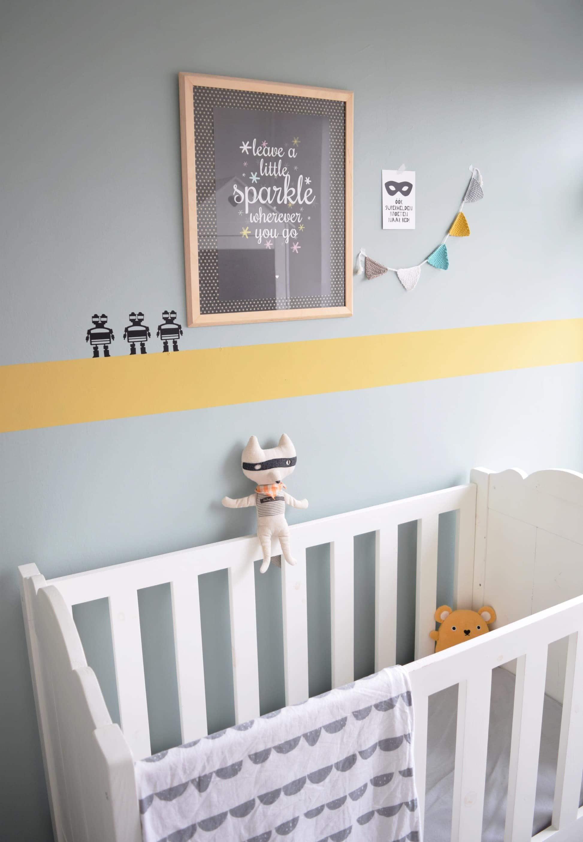 flexa oker early dew babykamer