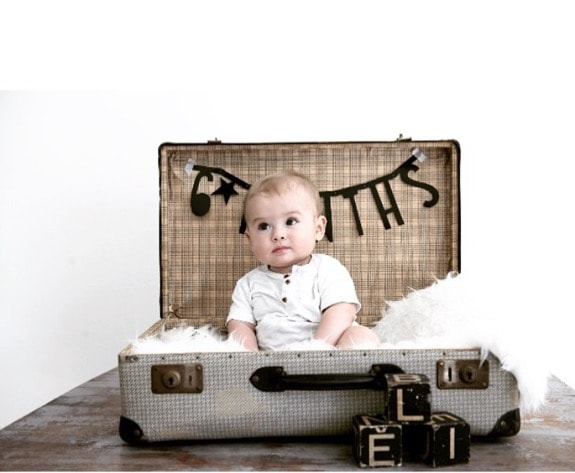 baby photoshoot suitcase