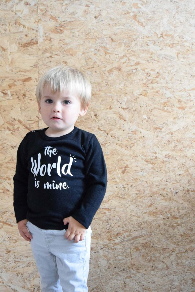 Tekst shirt Little Ace webshop
