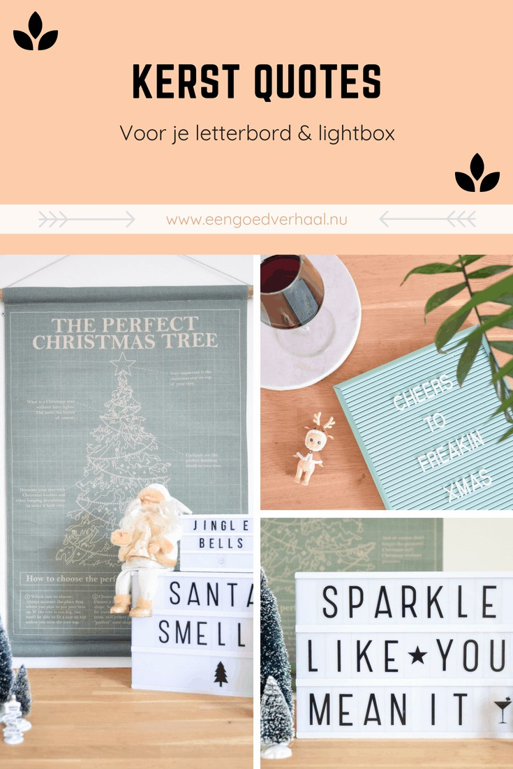 kerst quotes letterbord en lightbox