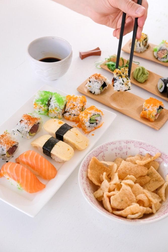 bamboe schaaltjes sushi