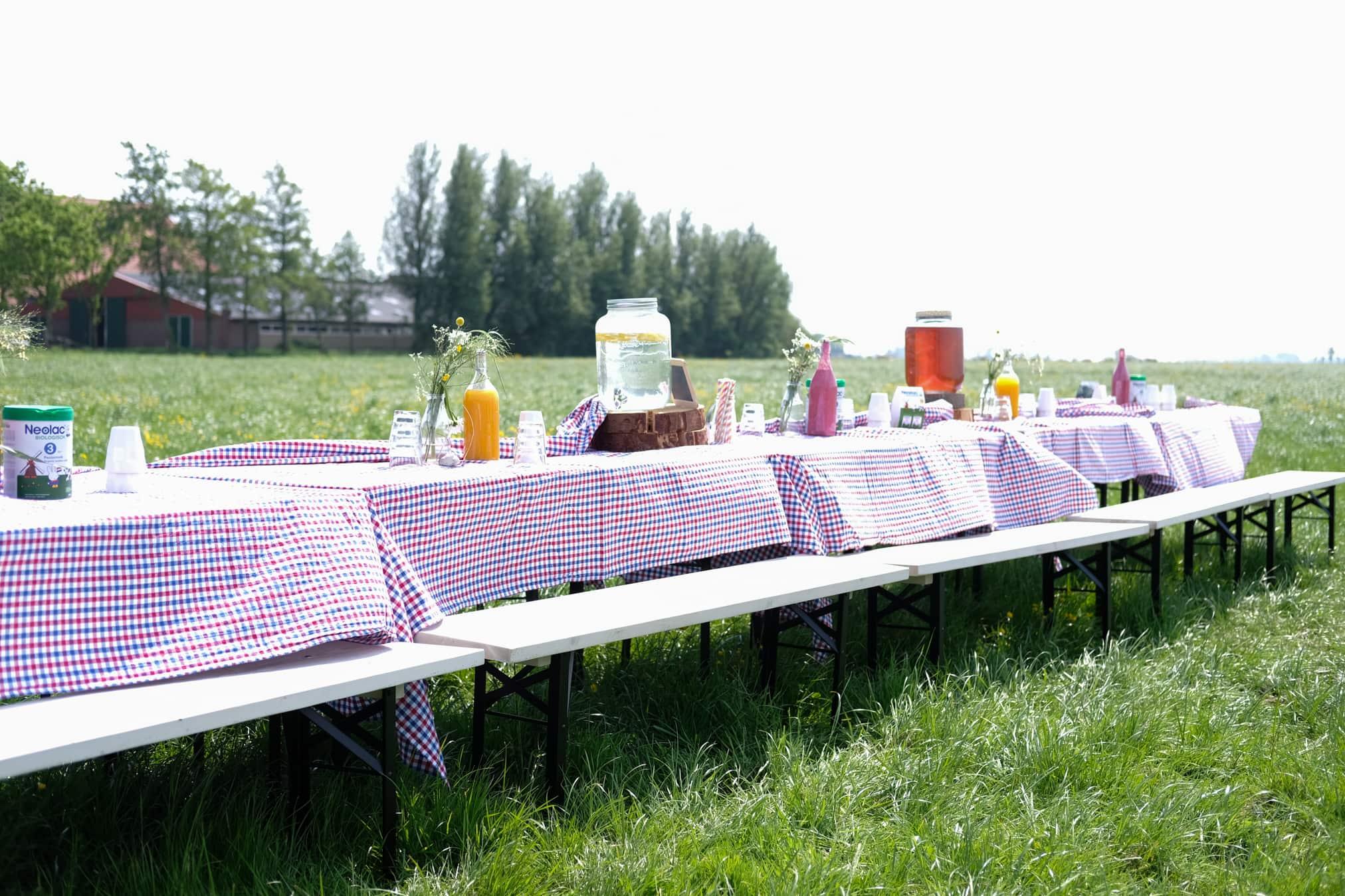lunchen bij de biologische boer