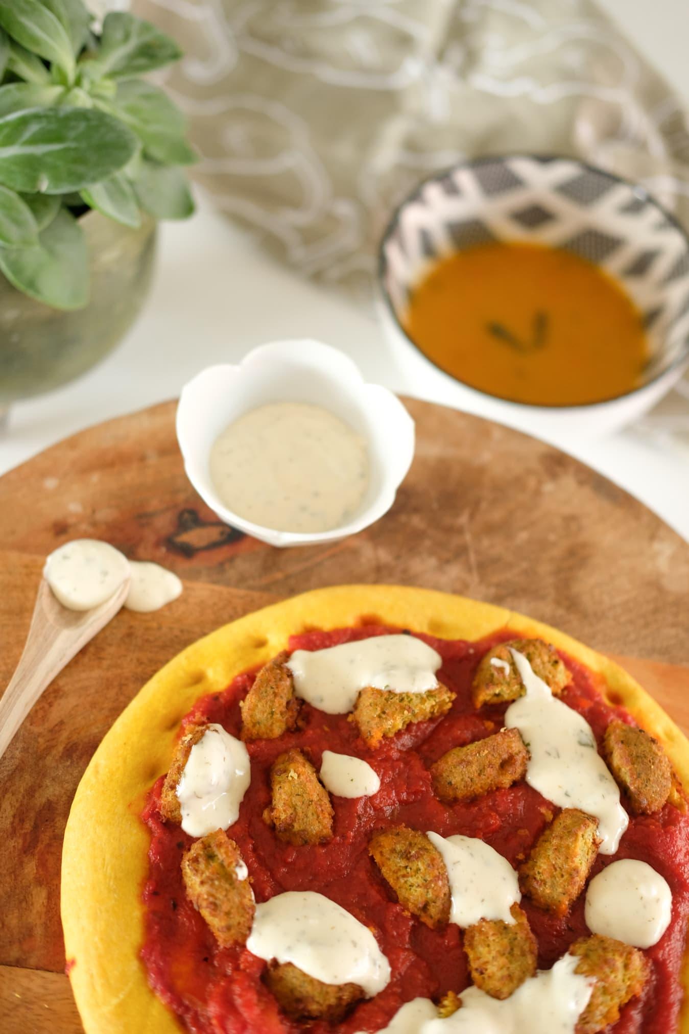 vegetarische tippong magioni pizza falafel