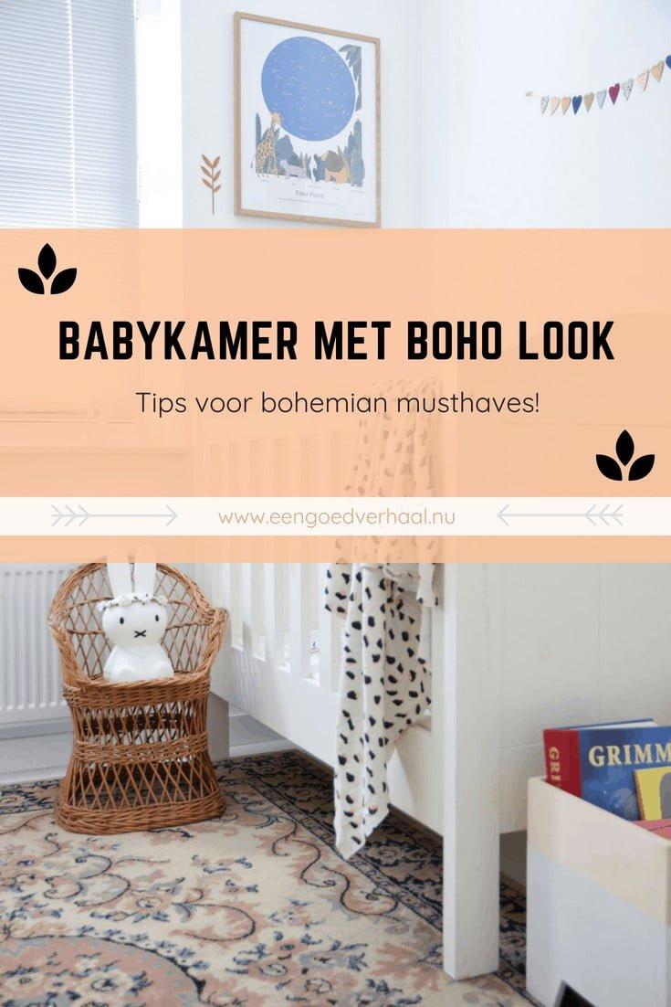 voorbeeld babykamer met boho look