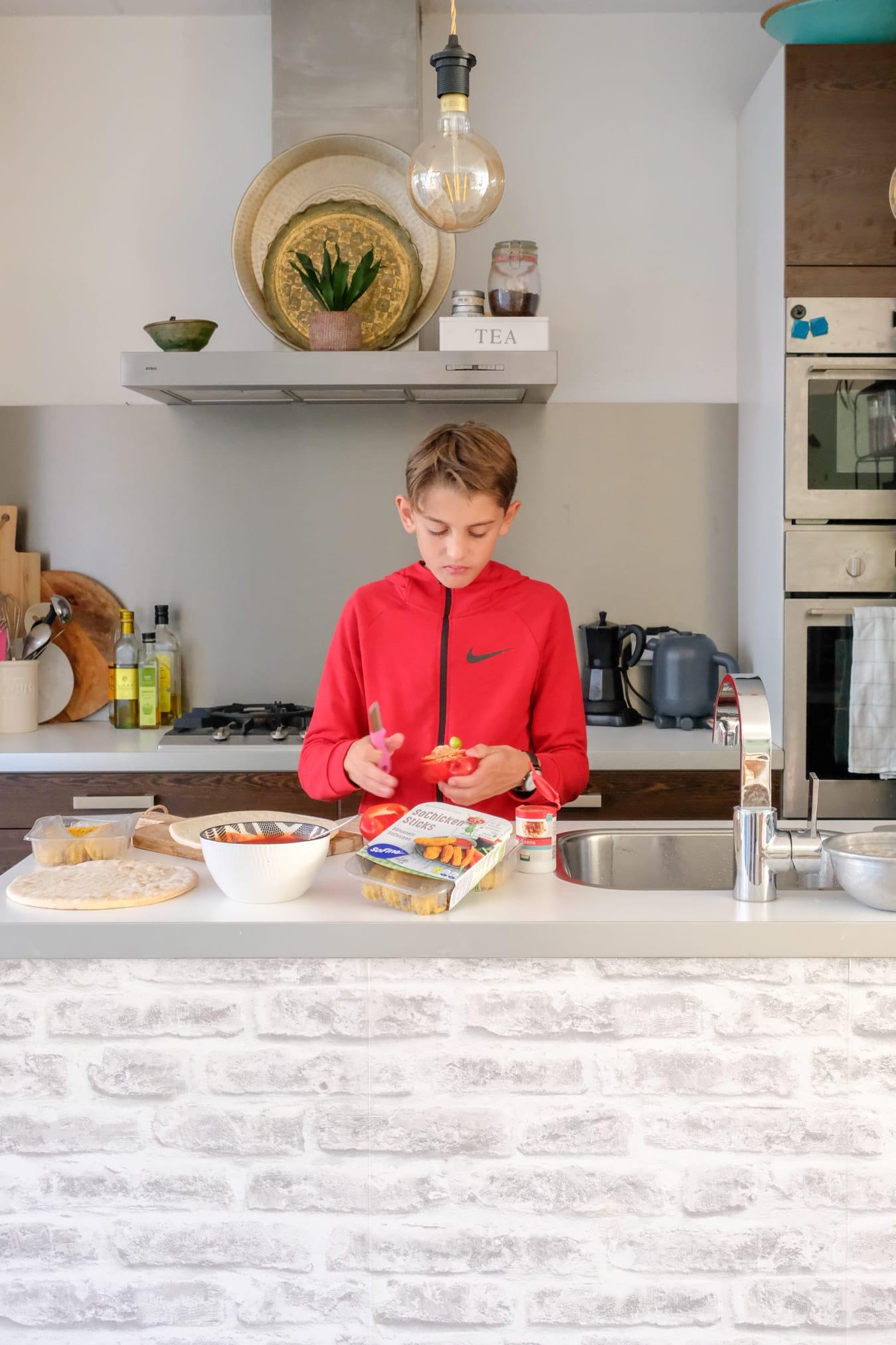 koken met een tiener