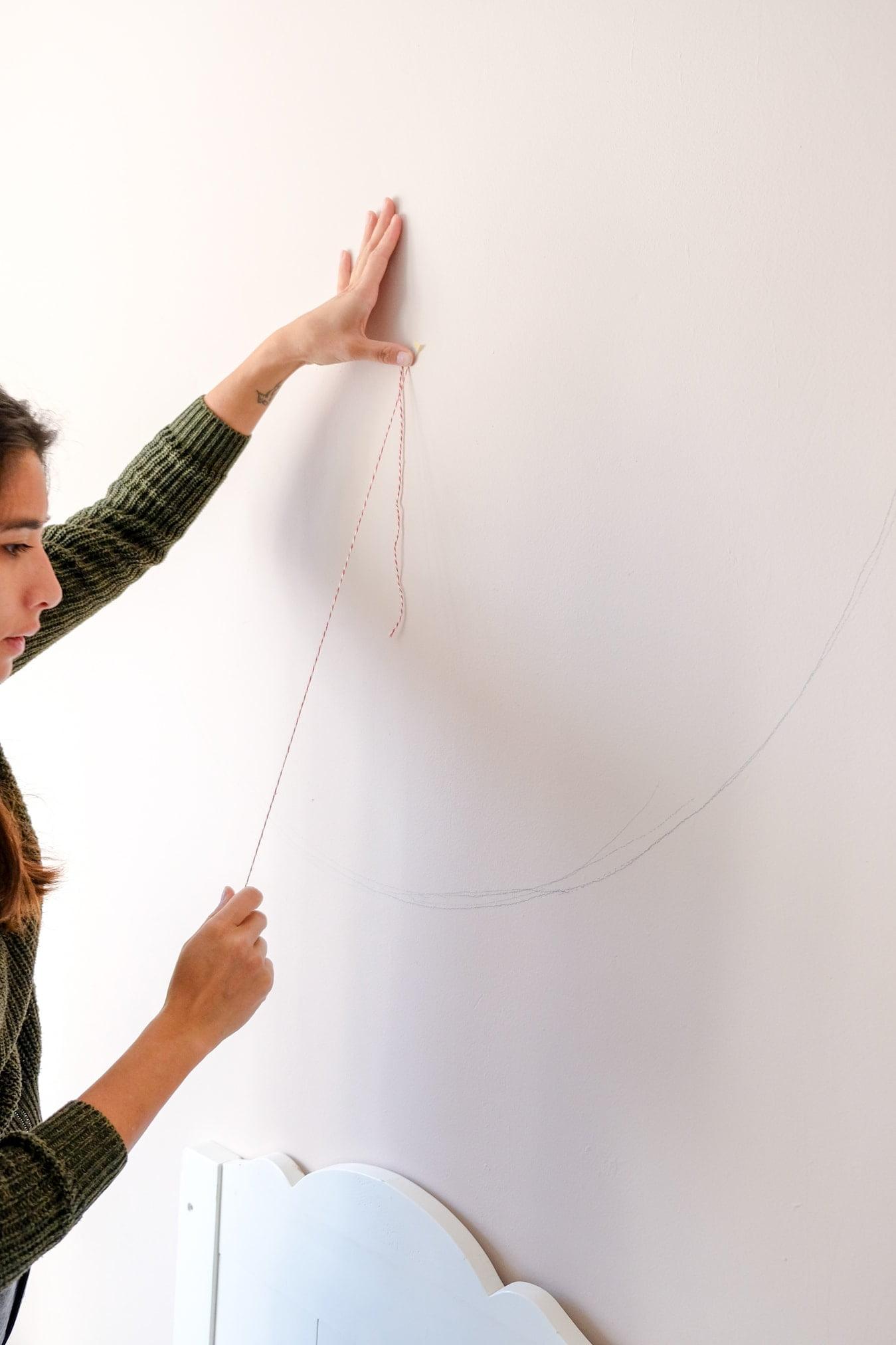 cirkel op de muur tekenen