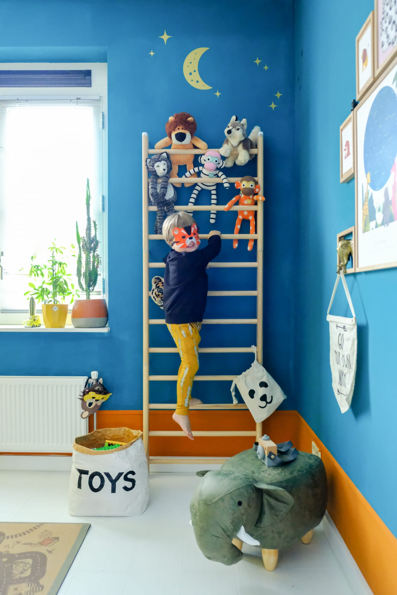 klimrek in de kinderkamer