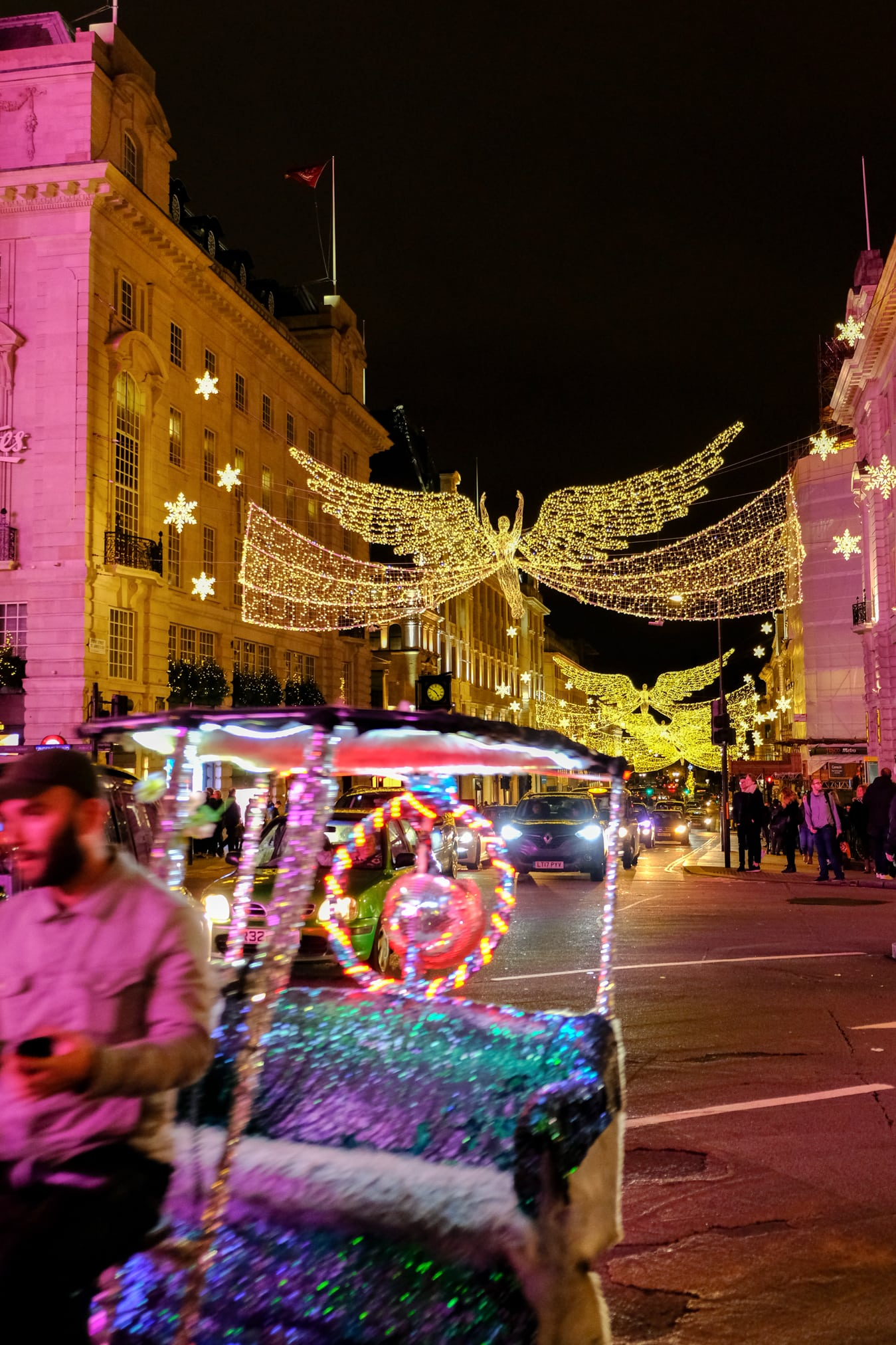street lights london christmas