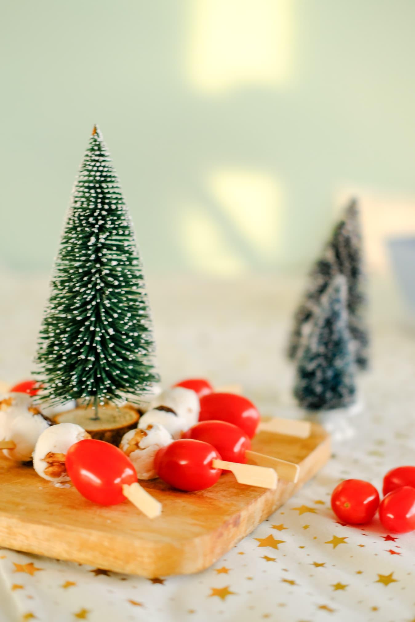 gezonde hapjes kerstdiner school