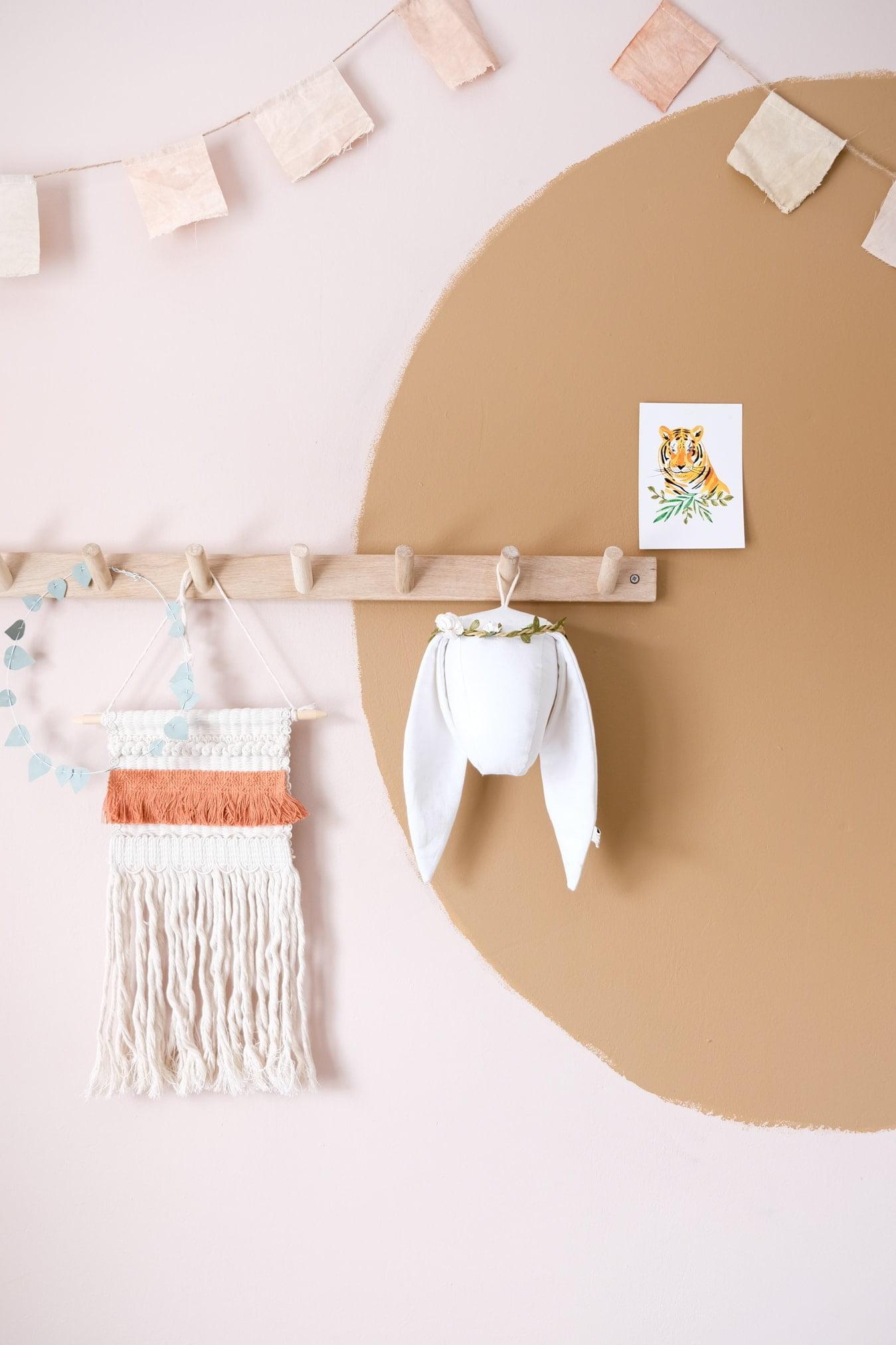 muurdecoratie cirkel babykamer