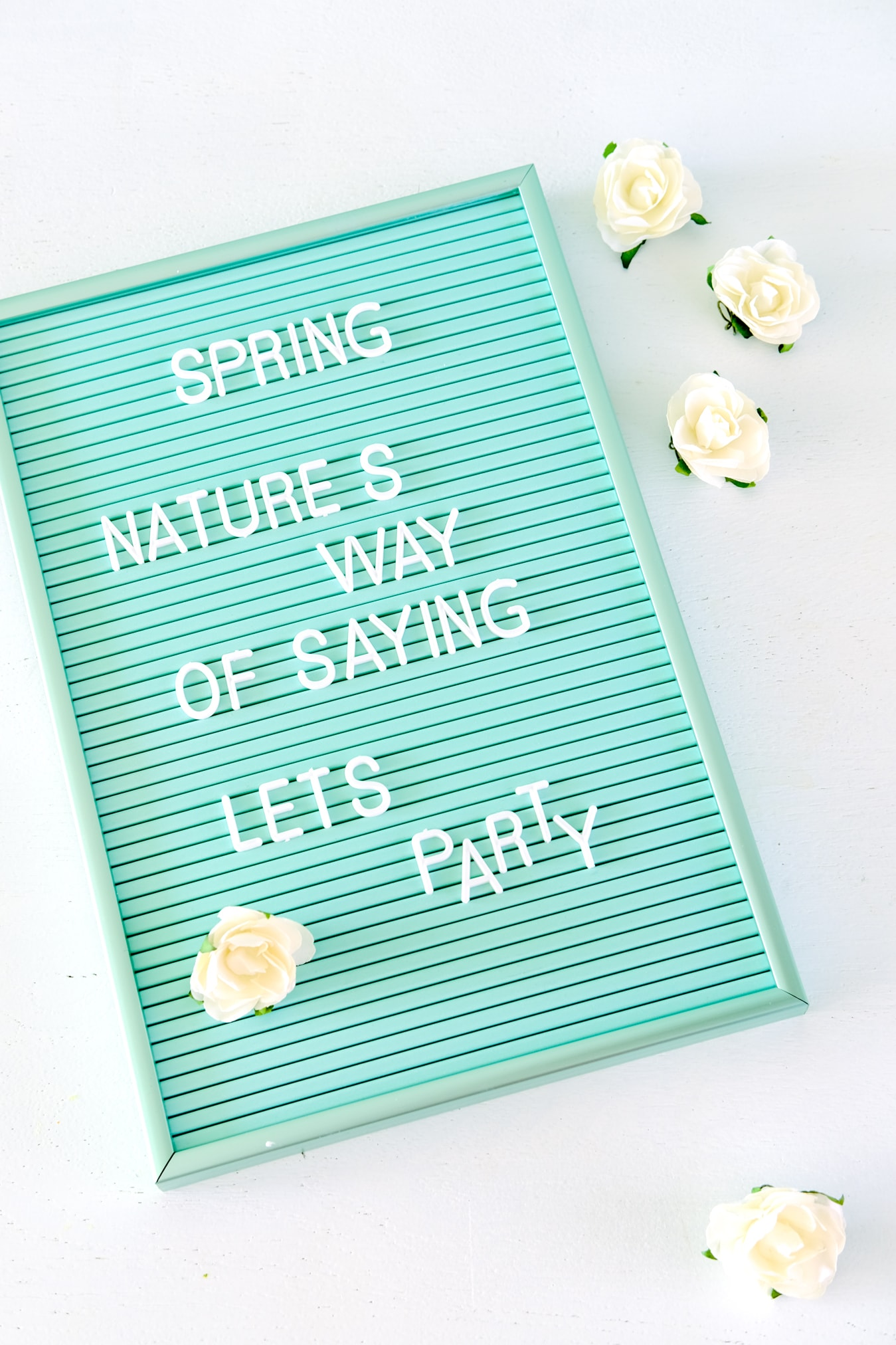 letterbord mint tekst voorjaar
