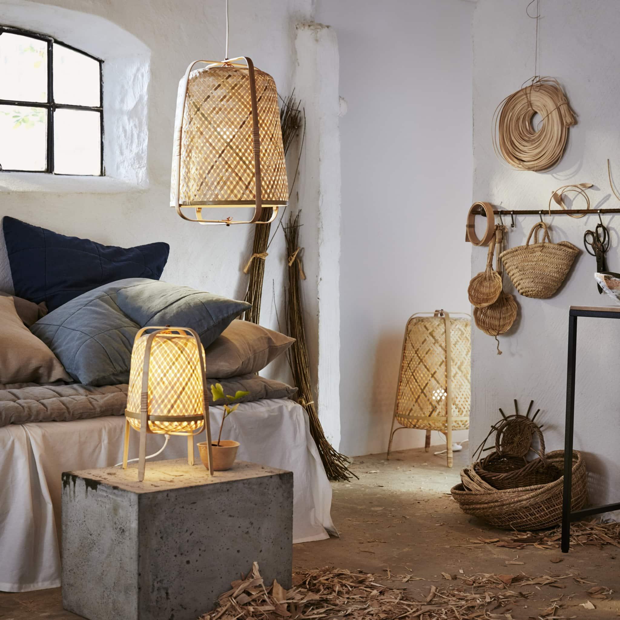 duurzame ikea lampen van bamboe