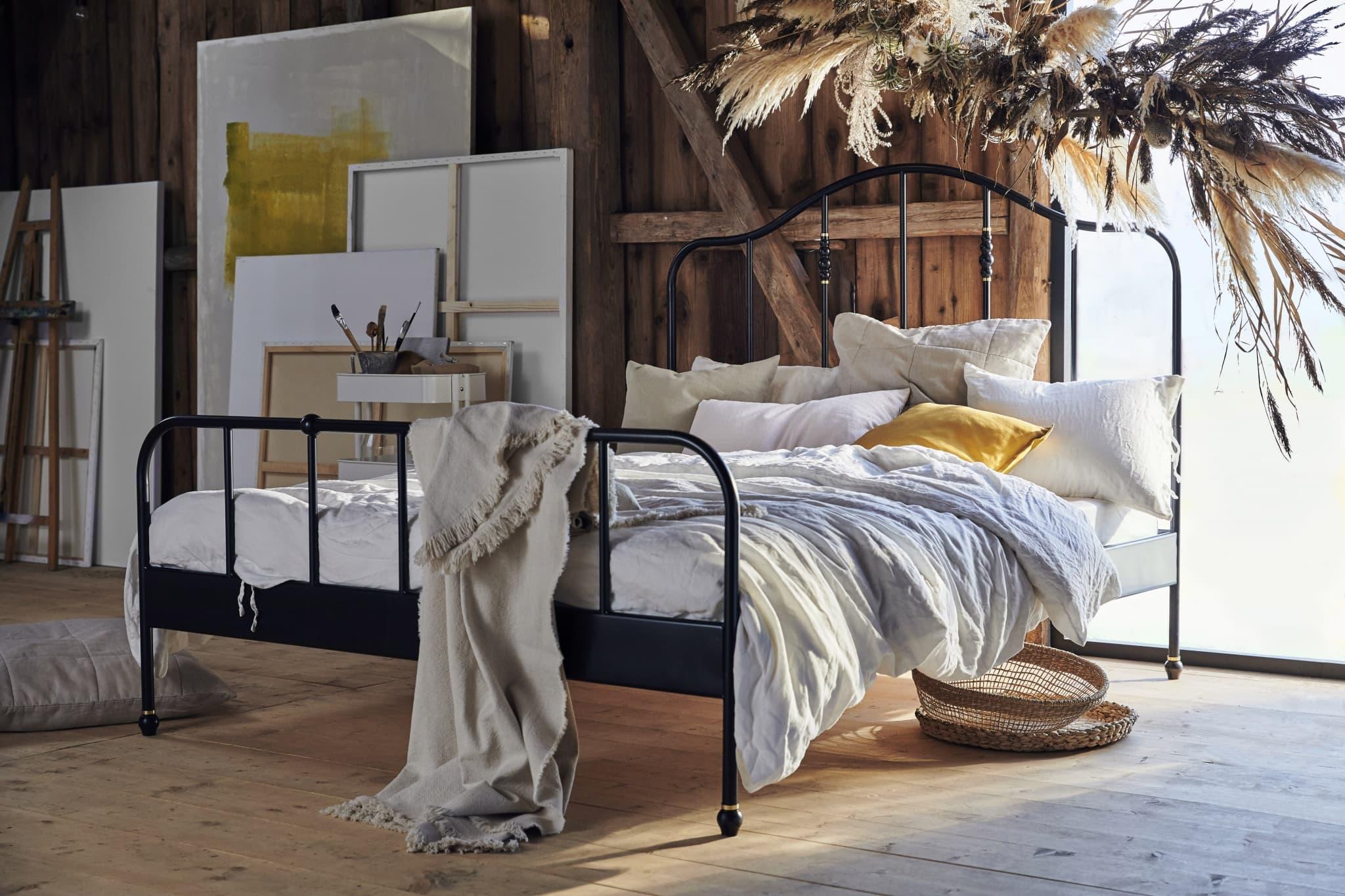 ikea slaapkamer natuurlijke materialen