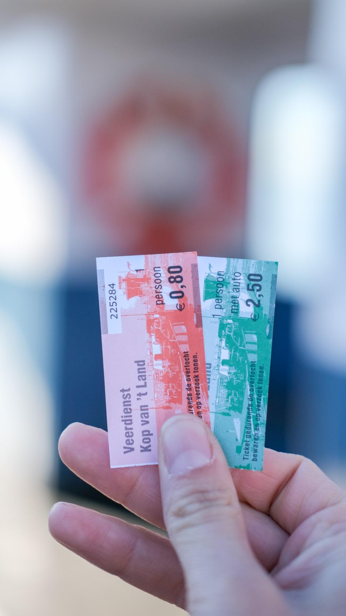tickets pontveer kop van t land