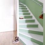 diy een rechte lambrisering langs de trap