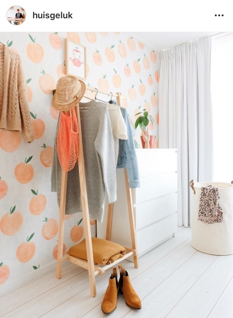 peach behang huisgeluk