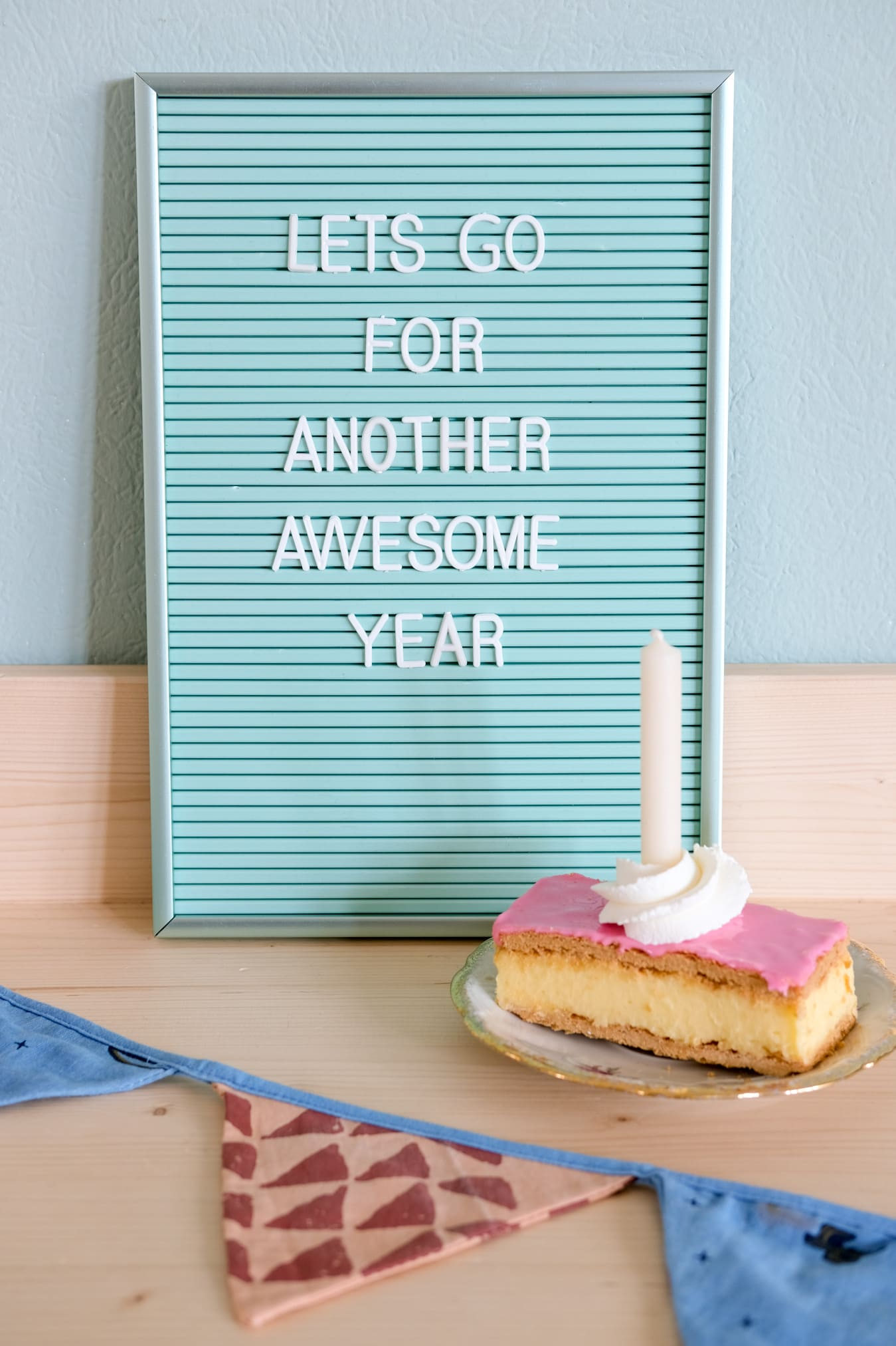 letterbord tekst verjaardag