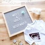 engelstalige tekst letterbord baby