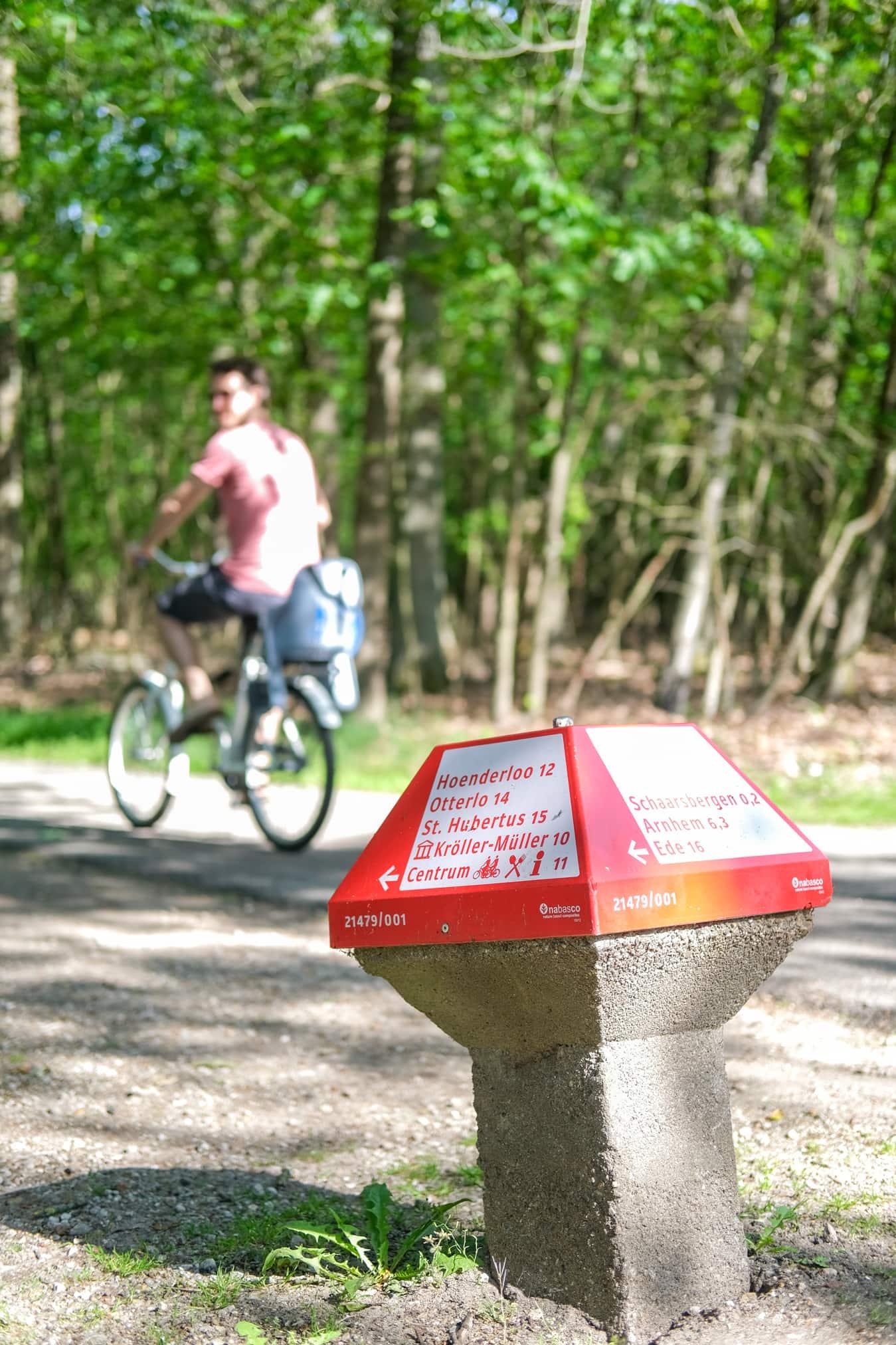 fietsen lenen naar kroller muller museum