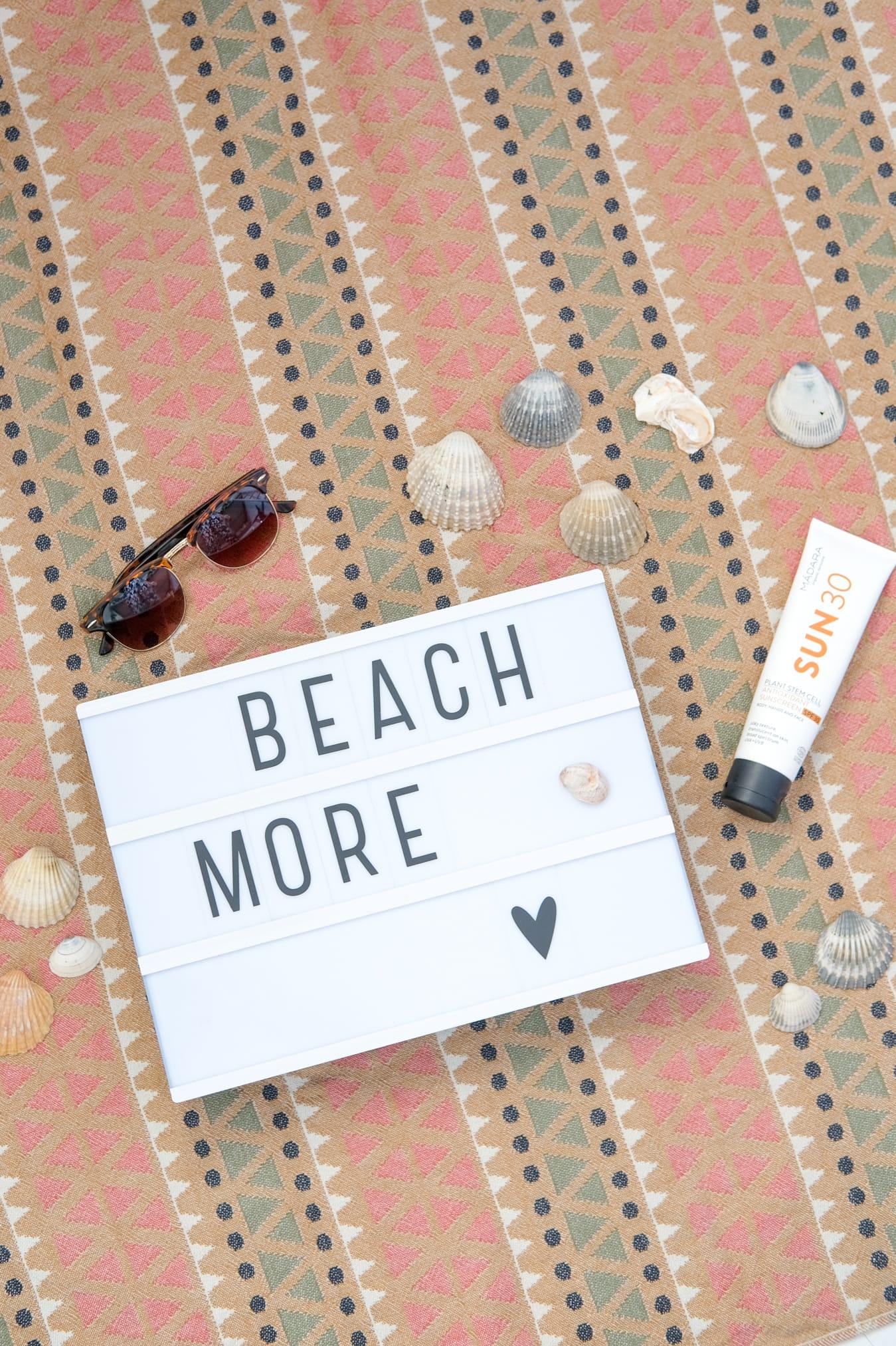 lightbox tekst over vakantie