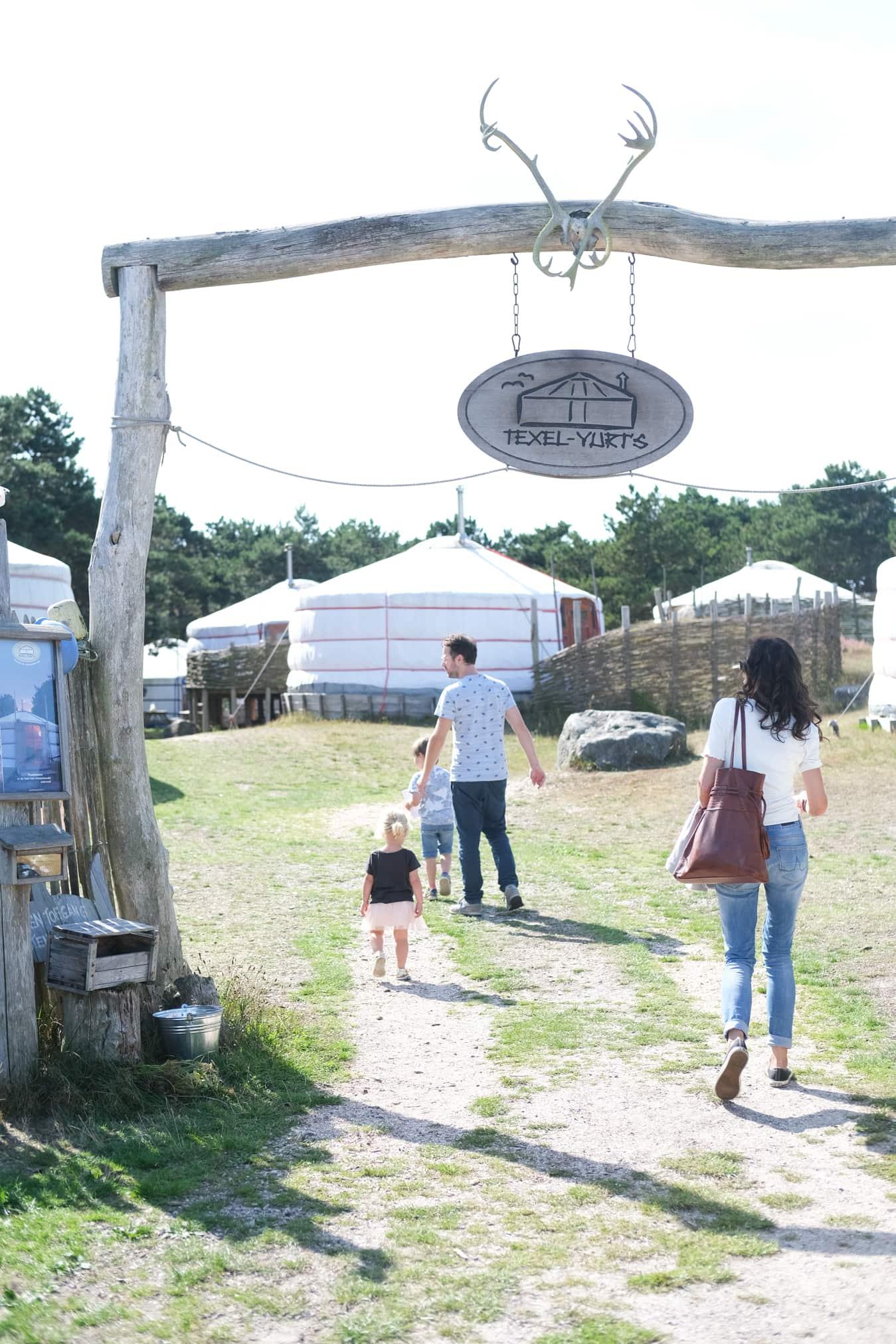 aankomst texel yurts nederland