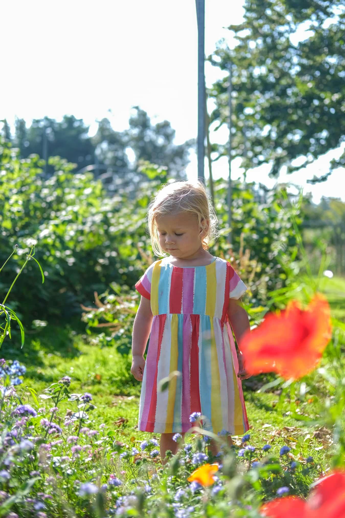 bloemen pluktuin vakantie kinderen