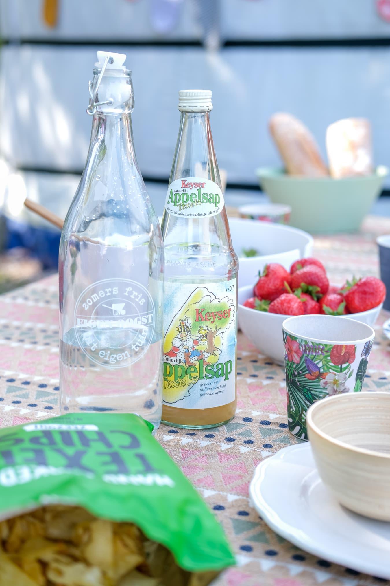 glazen limonadefles