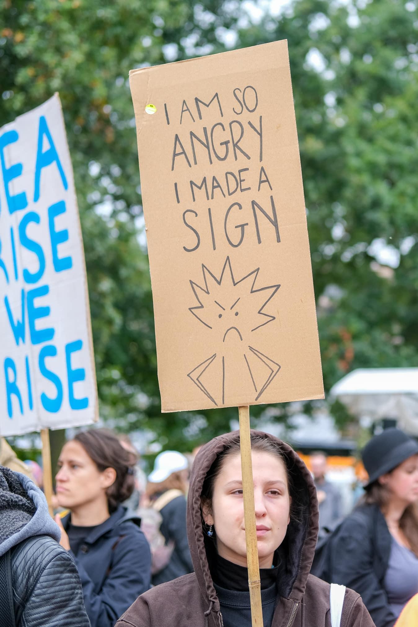 protest klimaatmars teksten