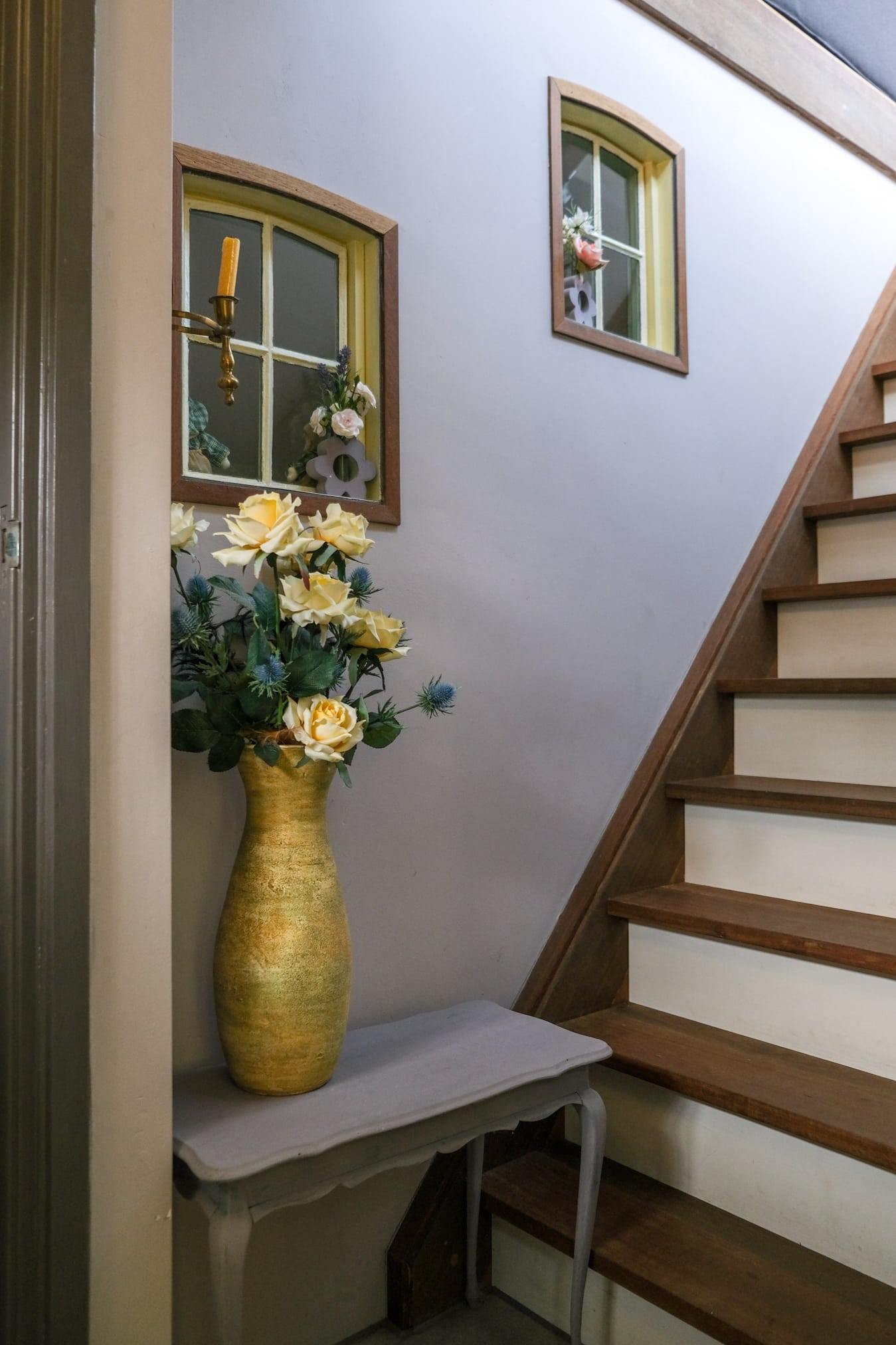 trap naar panorama woonkamer