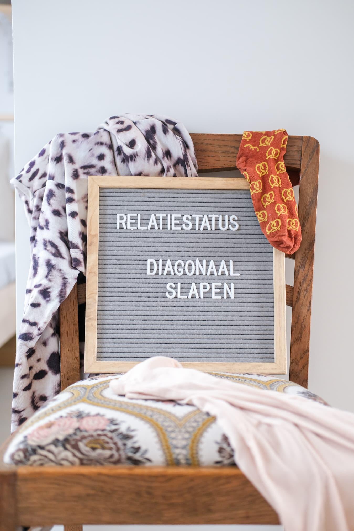 letterbord tekst humor slapen