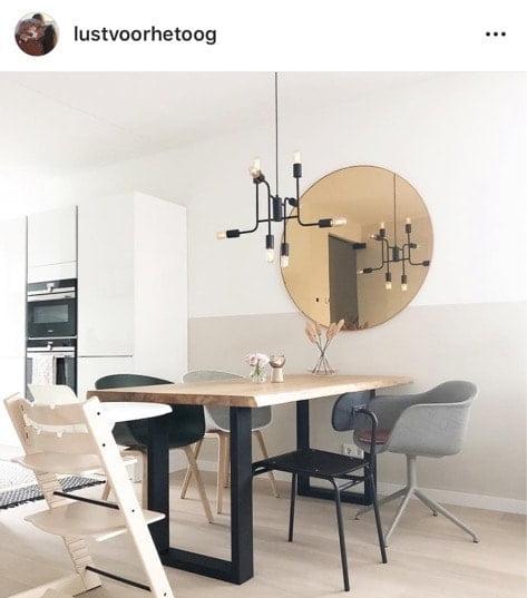 ronde spiegel woonkamer