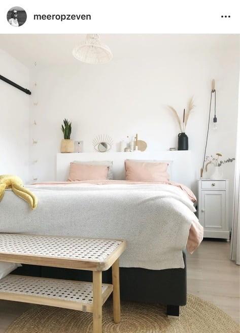 scandinavische slaapkamer instagram