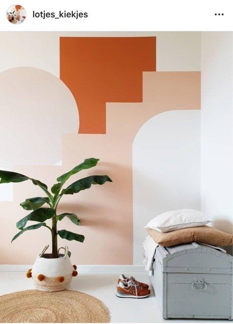 creatief met verf muur