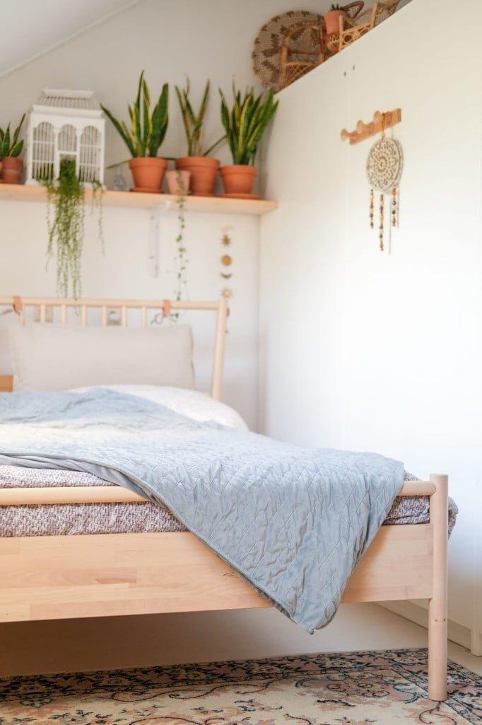 zware deken tegen slapeloosheid