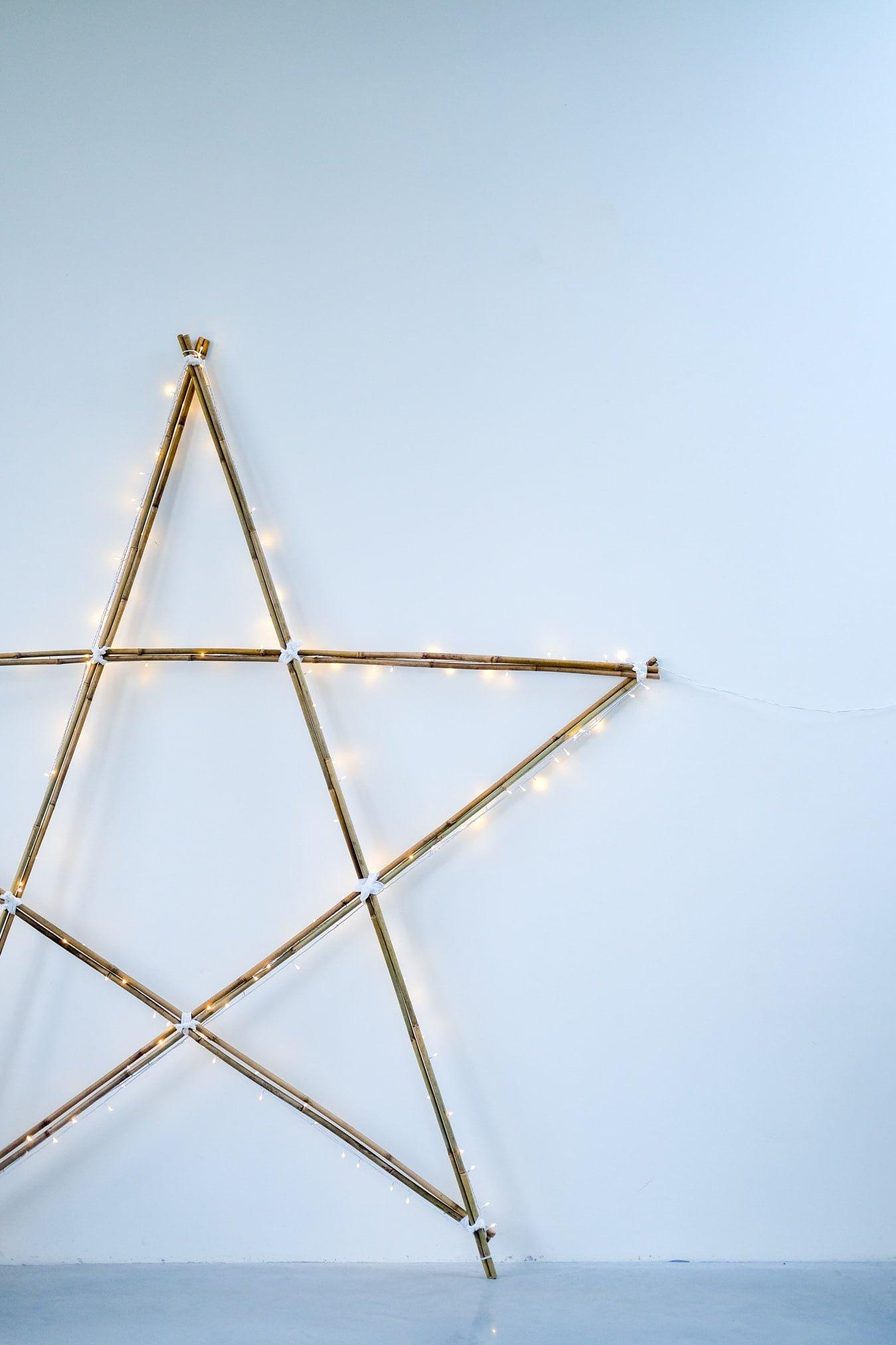 kerstster verlichting diy
