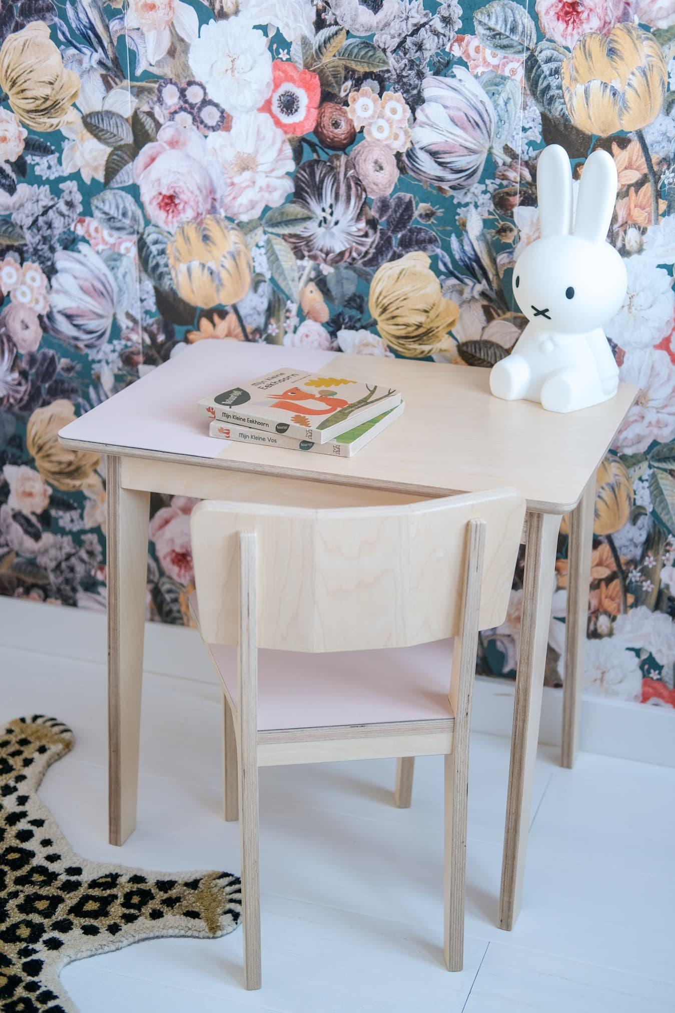 houten speeltafel roze