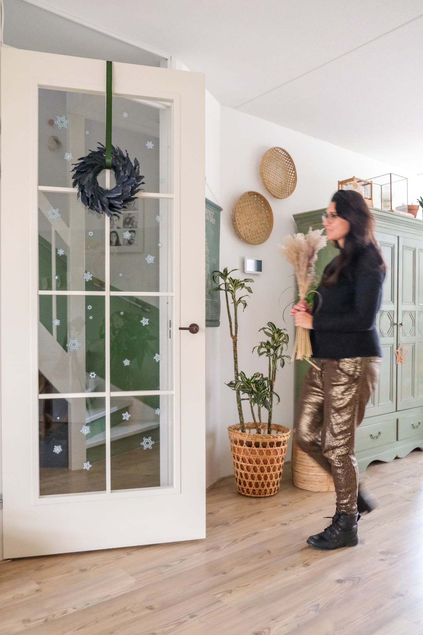 binnendeur versieren kerstmis