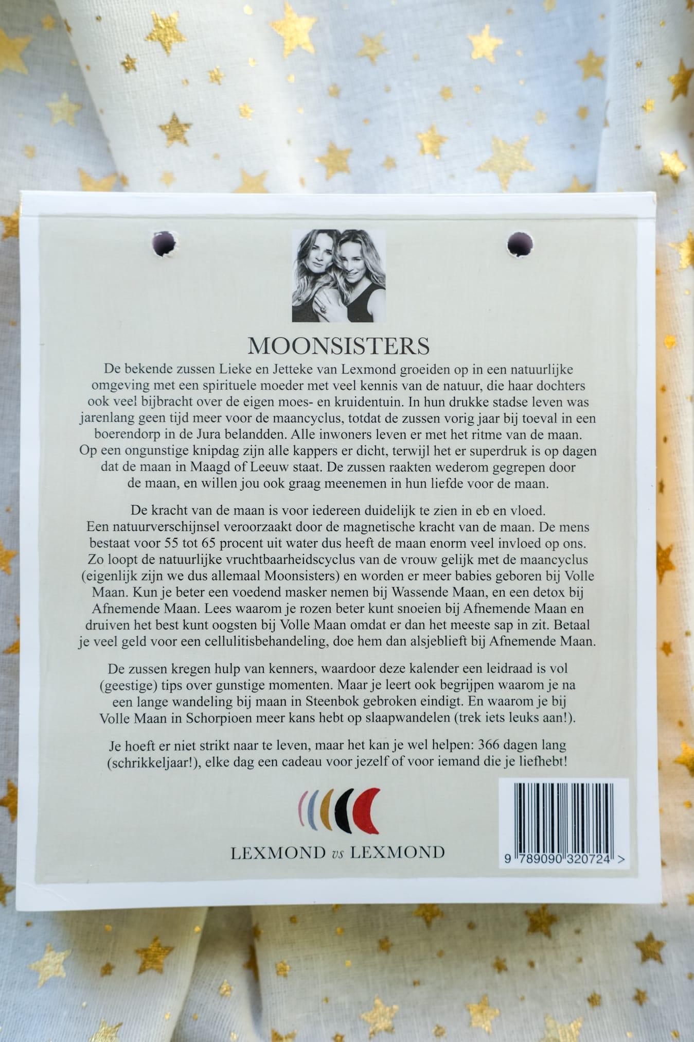 moonsisters scheurkalender lexmond vs lexmond