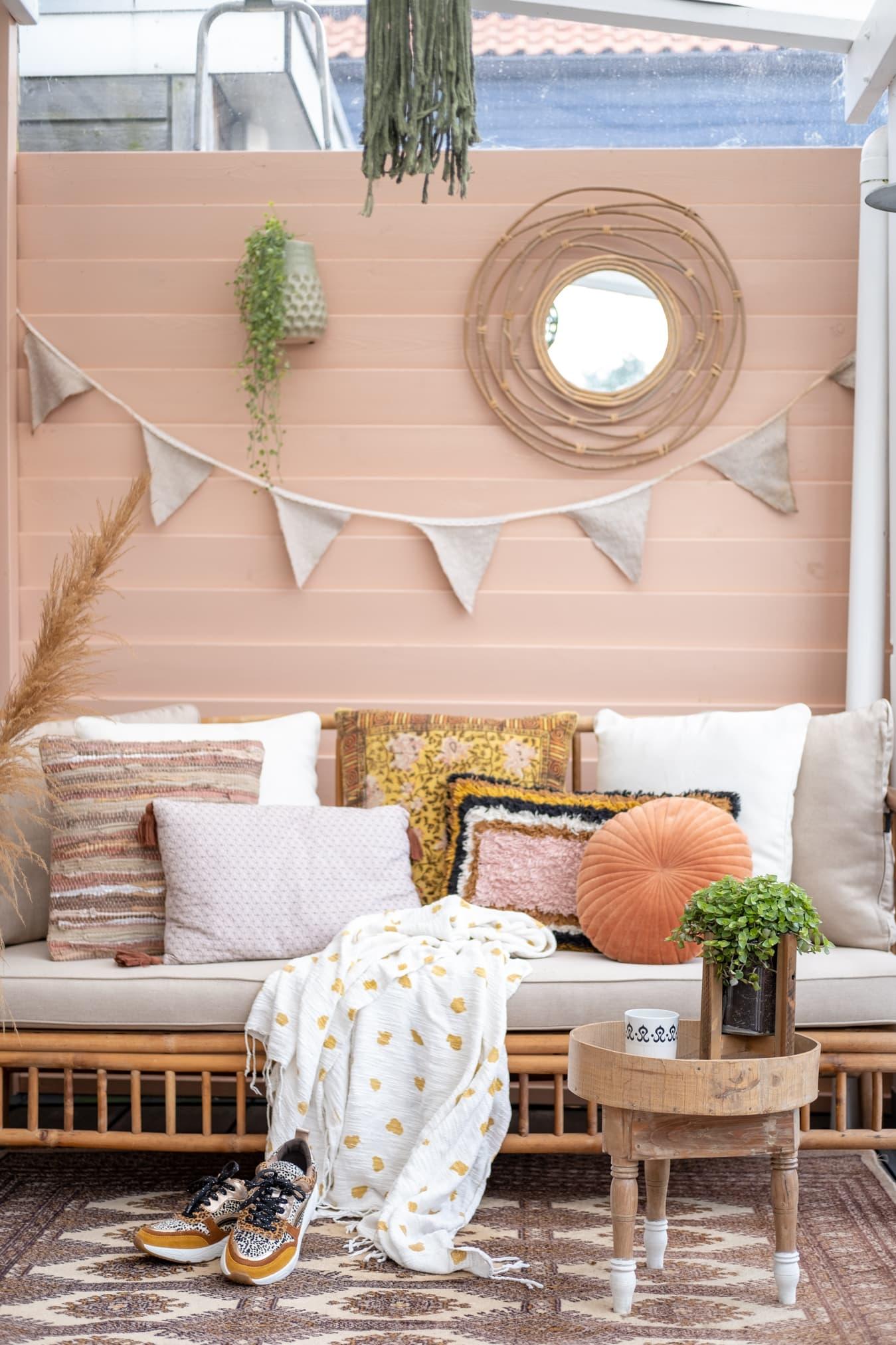 bohemian veranda inrichten