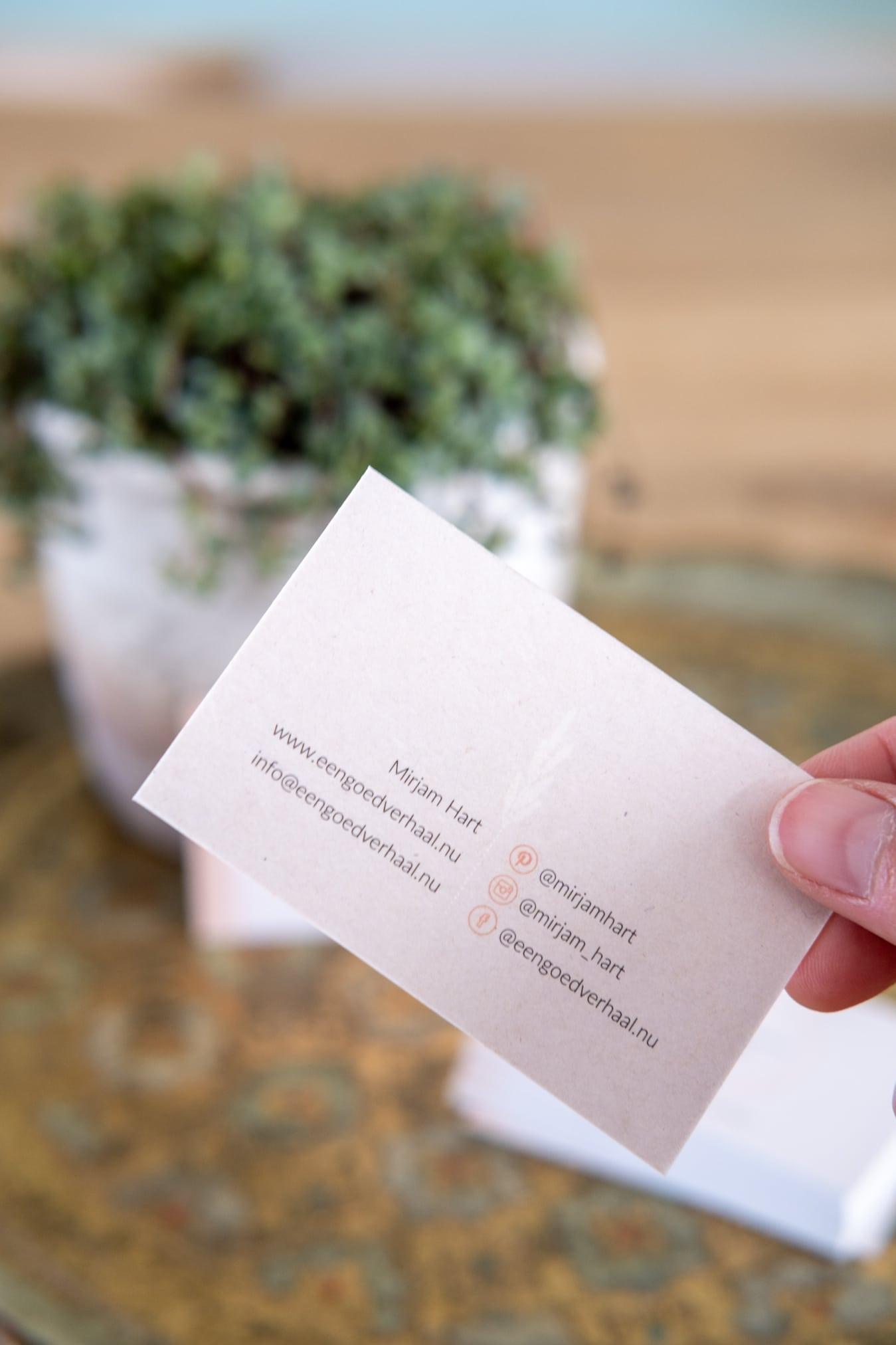 eco visitekaartje bestellen