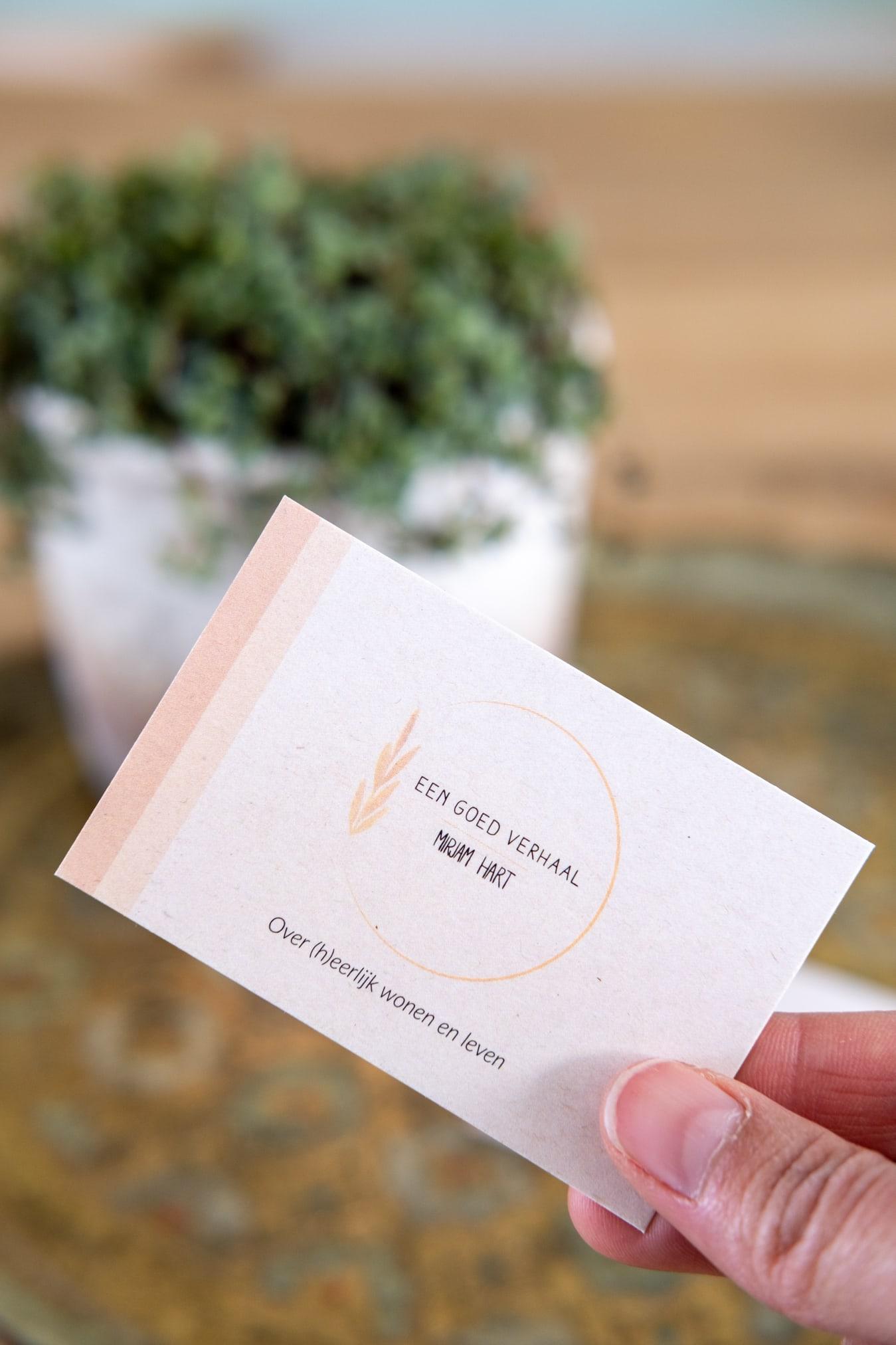 duurzaam logo visitekaartjes