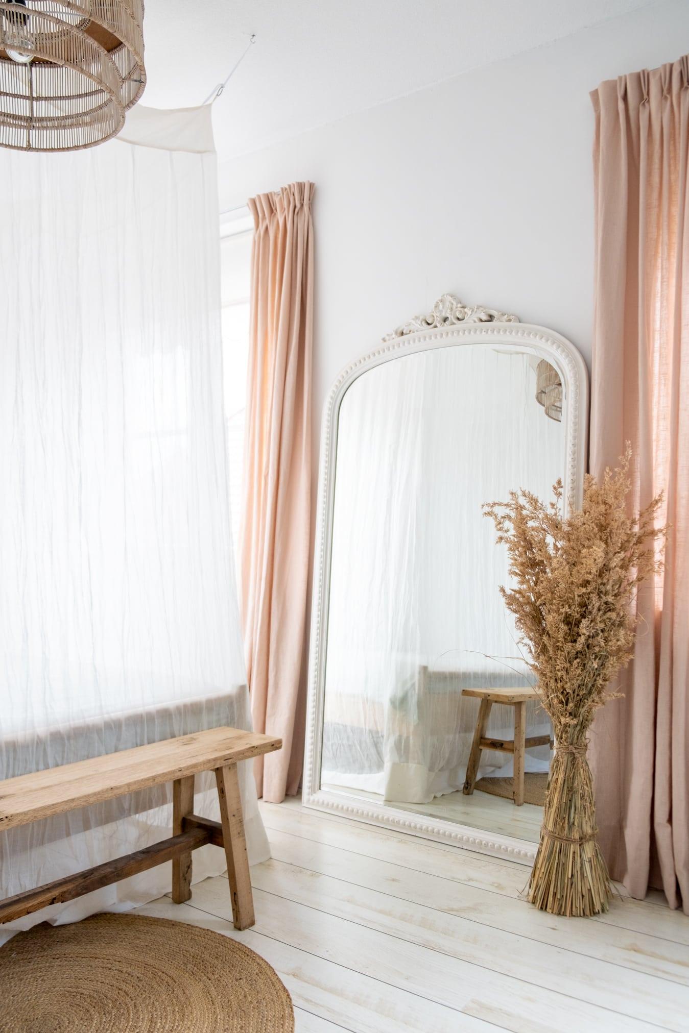 grote vintage spiegel met kuif