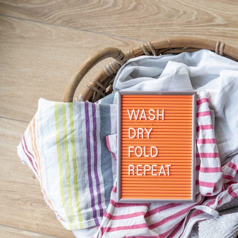teksten voor in het washok